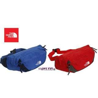 日本代購正品The North Face日本限定有型百搭運動休閒臀包機能性側背腰包寶藍紅
