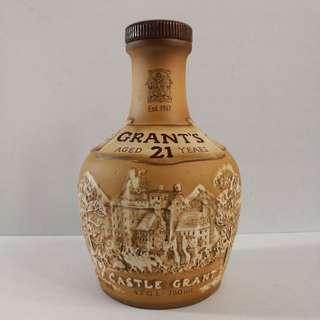 Grant's 21 Year Old Scotch Whisky Bottle by Royal Doulton