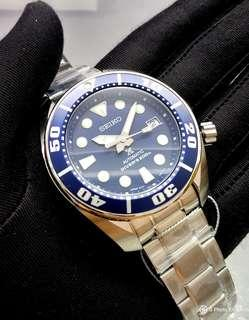 * FREE DELIVERY * JDM Brand New 100% Authentic Seiko Prospex Blumo Sumo Blue Mens Automatic Divers Watch SBDC033