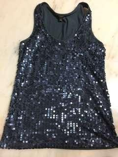 Sleeveless Front Sequined Top