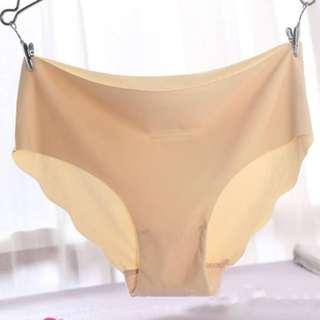 🚚 *SG Ready stock* Ice silk seamless nude colour panties/underwear/underpants