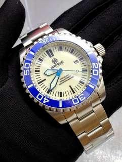 Brand New DeepBlue Master 2000 Swiss Automatic Mens Diver Watch with Blue Ceramic Bezel & Full Lume Dial