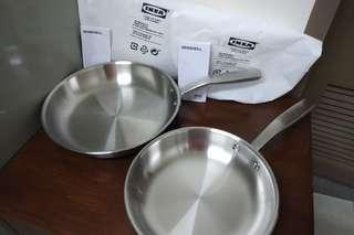 IKEA Stainless Steel Fry Pan Set