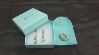 Authentic Tiffany & Co. Earrings and Ring