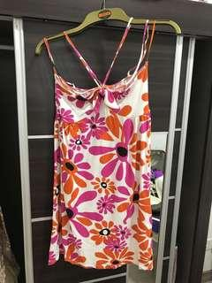 ZARA floral beach dress