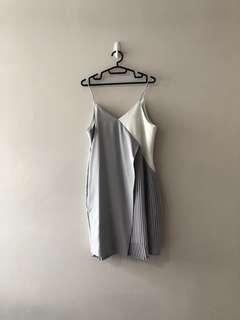 Anticlockwise colourblock pleated dress