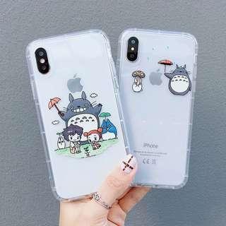 Totoro clear phone case