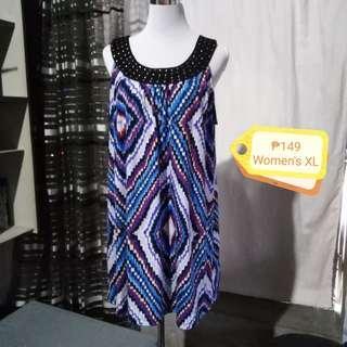 🌷Blue Geometric Dress
