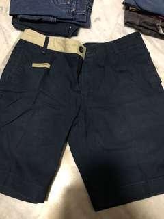 Navy blue skinny chino short