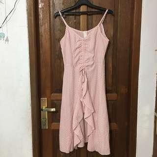Dress Striped Pink