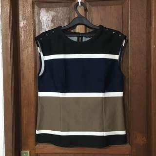 Top Navy Striped