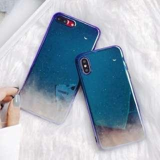 Starry sky glossy phone case