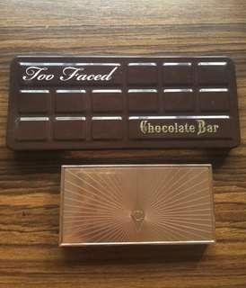 Charlotte Tilbury Filmstar Bronze and Glow + Too Faced Chocolate Bar (authentic)