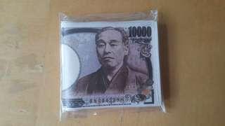 全新 日本錢幣印花銀包/ 卡片套