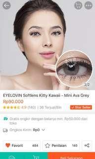 Mini Ava Grey Softlens by eyelovin