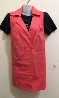 Sleeveless outer wear size M-L