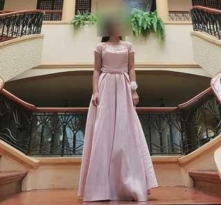 Rose Pink Long Dress for Ladies