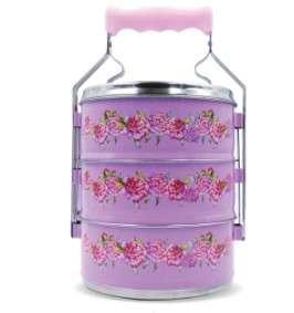[Juniorcloset] 🆕️ 3 tier Tiffin container Tingkat - Flora