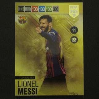 18/19 Panini Adrenalyn xl FIFA 365 Top Master - Lionel MESSI #Barcelona