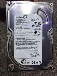 """3.5"""" Seagate 500GB HDD"""