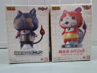 超合金 妖怪手錶 地縛貓、Robot貓 一套兩隻