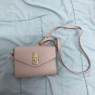 new primark pink sling bag