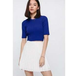 Love, Bonito Aleana Sash Knit Top in Cobalt