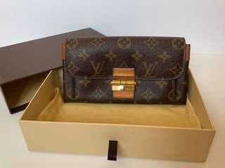 Authentic Louis Vuitton Monogram Portefeuille Elysee Long Wallet