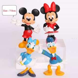 New mickey minnie mouse daisy donald duck clubhouse disney cake topper decoration figurines toys