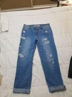 Refuge denim ripped jeans sz 14