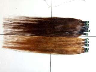 hair extenaion smooting warna panjang sepinggang