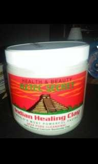 Aztec indian hialing clay mask