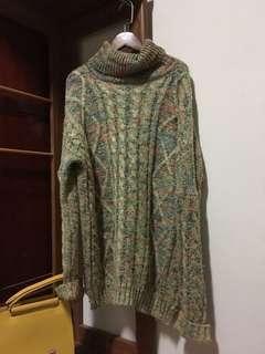 🚚 厚針織翻領毛衣