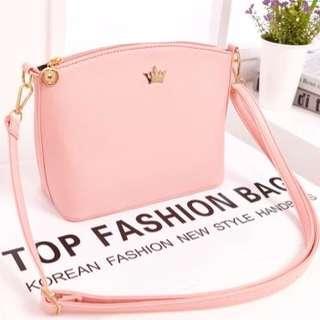 86b875573b (Ready Stock) Popular Crown Pink Sling Bag