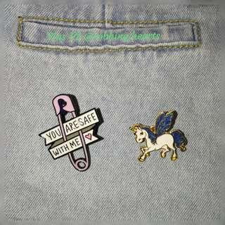 🚚 [In Stock] Love and Unicorn Enamel Pin