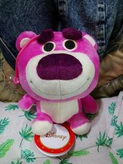 迪士尼角色 夾娃娃 吊飾 吸盤 熊抱哥 雷射標