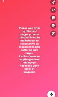 NO PROOF OF PAYMENT NO RESERVATION