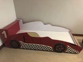 Racing red car single bed Frame