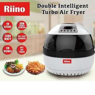 Riino 10L intelligent All in one Air fryer with 9 Free Accessories