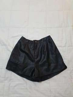 Princess Polly leather shorts