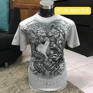 Yin Yang Dragon Tiger tshirt