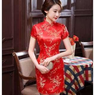 Free Shipping Promotion-15-25 Days Shipping Time for Traditional Chinese Women s Silk Satin Cheongsam Dress