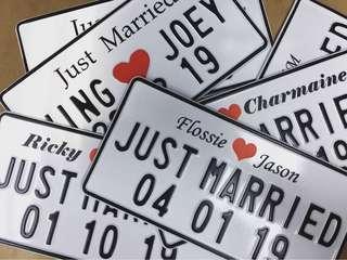 自訂結婚牌