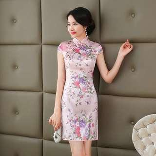 Free Shipping Promotion-15-25 Days Shipping Time For Summer Midi Cheongsam Fashion Chinese Style