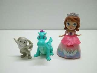 Sofia the first animal friends, set of 3.