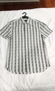 armani exchange stripes polo