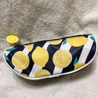 Lemon Prints Pencil Case