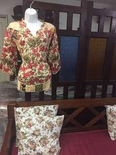 (BN)Chinese New Year Special-Ladies Full sleeve Embroidery Pure Cotton Blouse