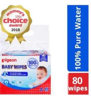 Pigeon Baby Wipes (water based)