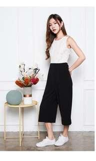 Lace white & black jumpsuit